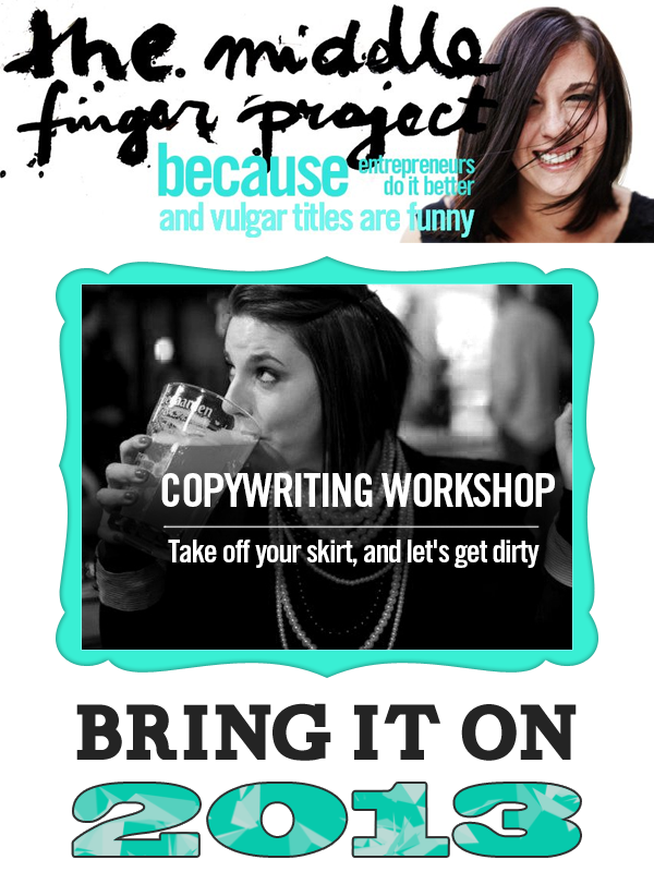 The Middle Finger Project -Copy-writing Workshop